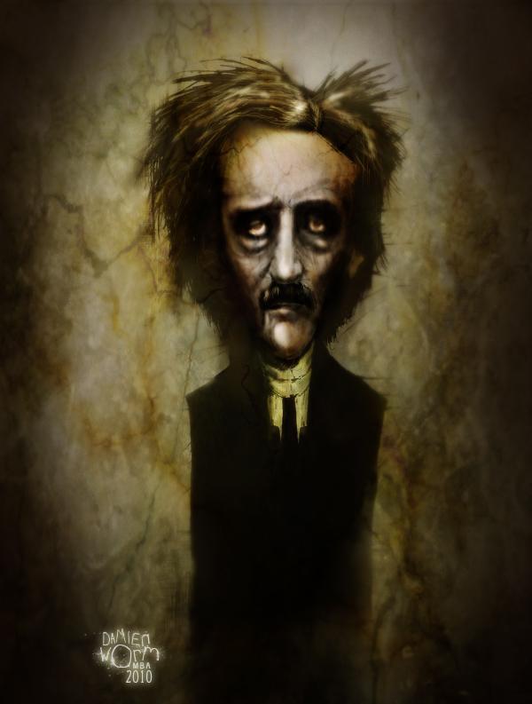 Poe Portrait by DamienWorm