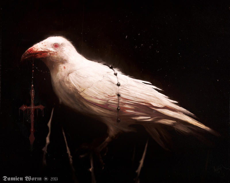 God's rejection No. 8: Albino crow by DamienWorm