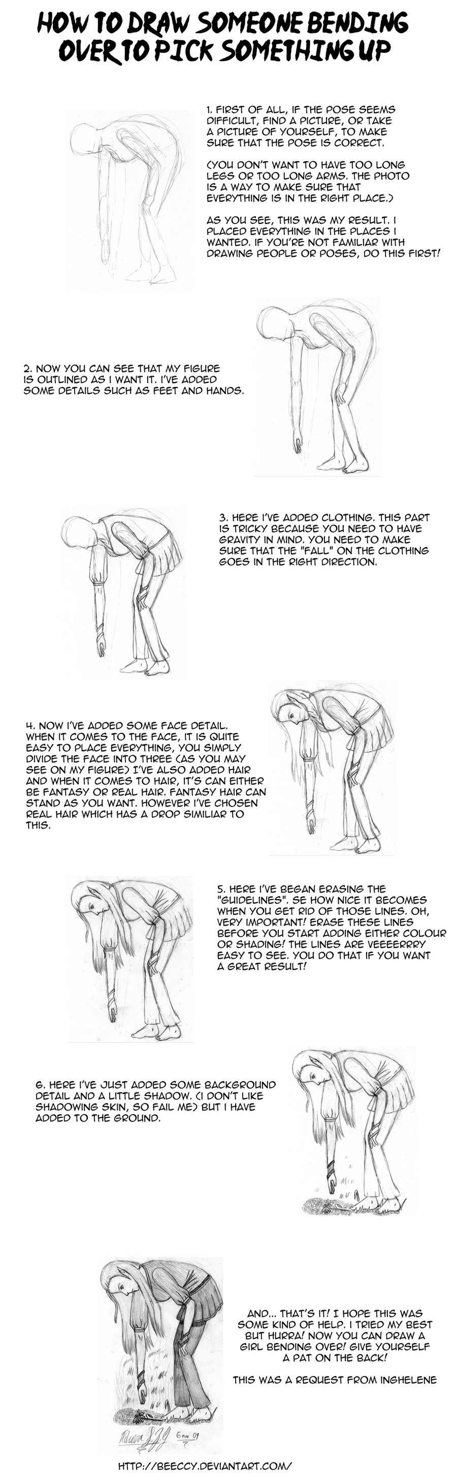 How To Draw Someone Bend Over By Beeccy