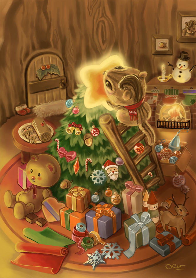 Merry XMAS 2012 by LeorenArt