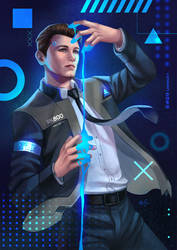 Detroit Become Human - Connor by LeorenArt