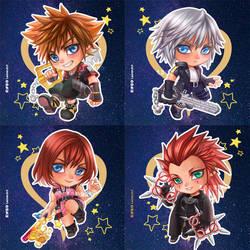 Kingdom Hearts 3 - chibi set by LeorenArt