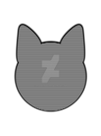 Cat Head Silhouette with Pattern Fill