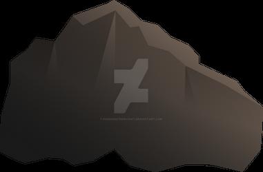 Stone, Mountain, Rock using Adobe Illustrator