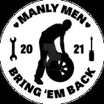Manly Men Bring 'Em Back Sticker Design