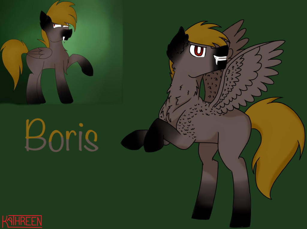 Boris The Pegasus Wolfpony (Request) by MLPdrawerCurlyCotton