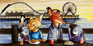 Commission- Double Date by myrza289