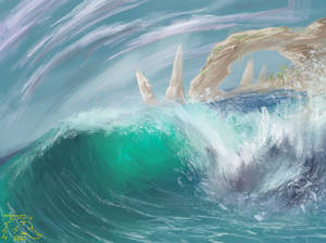 Day 8 results ( crashing wave) 30days 30paints 30m