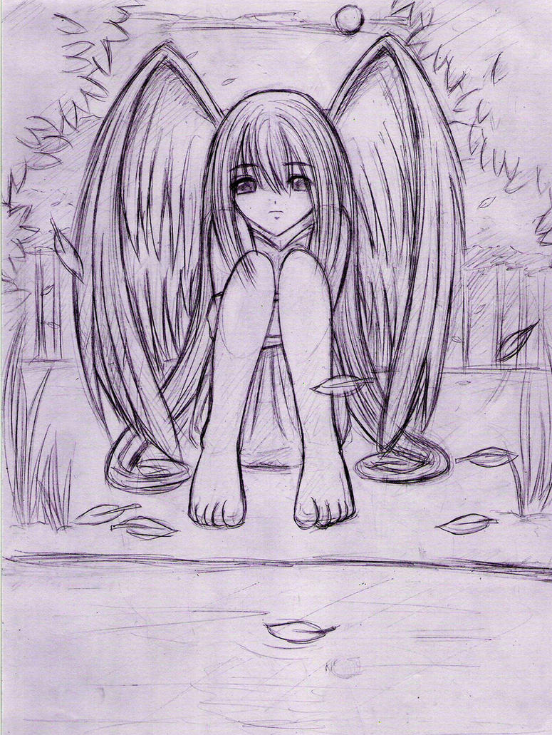 depressed angel drawings - photo #14