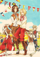 APH: Summer party by CaeruleaLacus