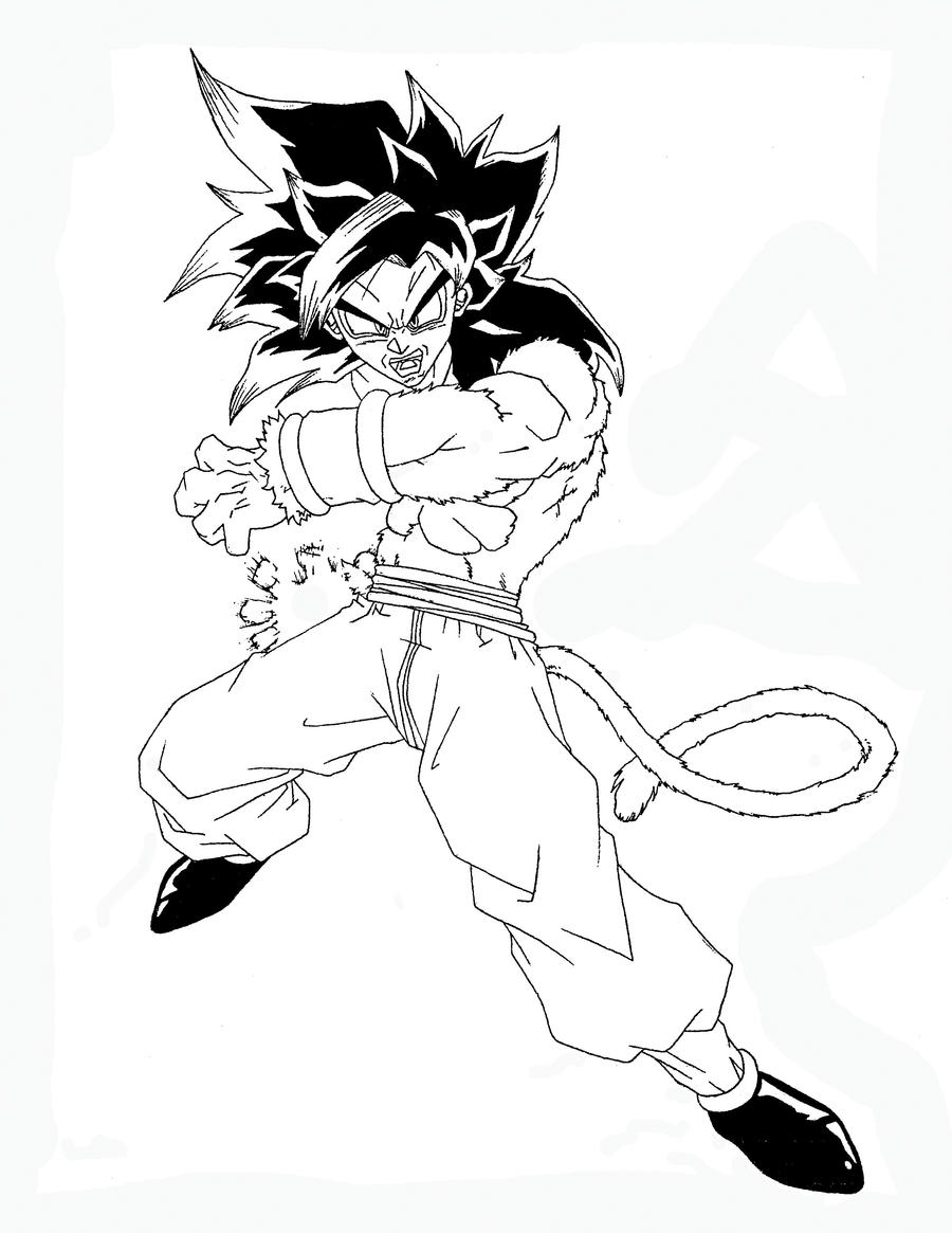 Dragon Ball Z Coloring Pages Vegeta Super Saiyan Vegeta Super Saiyan 4 Coloring Pages