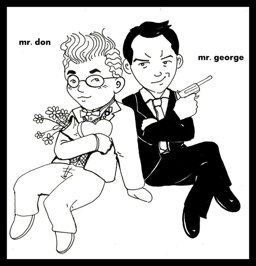 Mr. Don and Mr. George cartoon by gorgonbreath