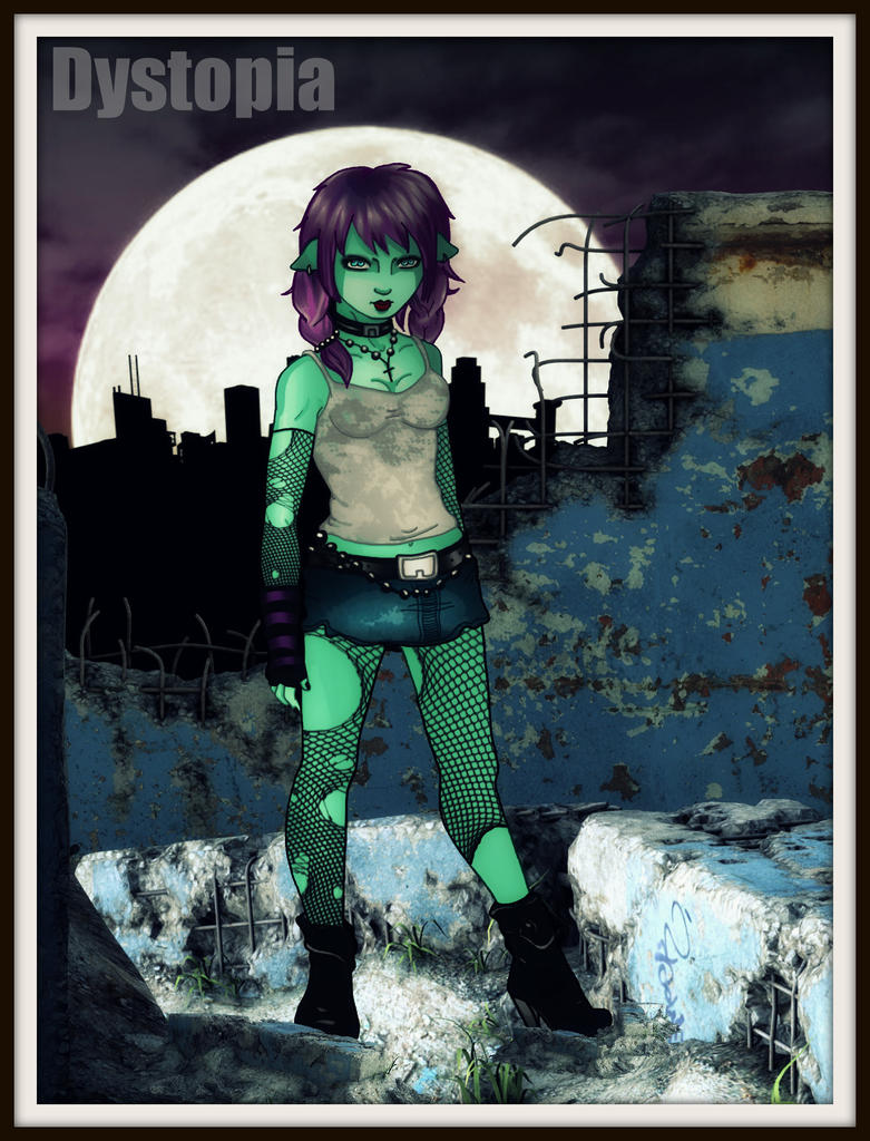Alice in the moonlight by gorgonbreath