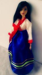 Korean Barbie in Hanbok 1 by gorgonbreath