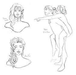 Dragon Age: Sketch Dump by Tipsqueak