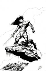Conan the Cimmerian and Belit by scottyputty