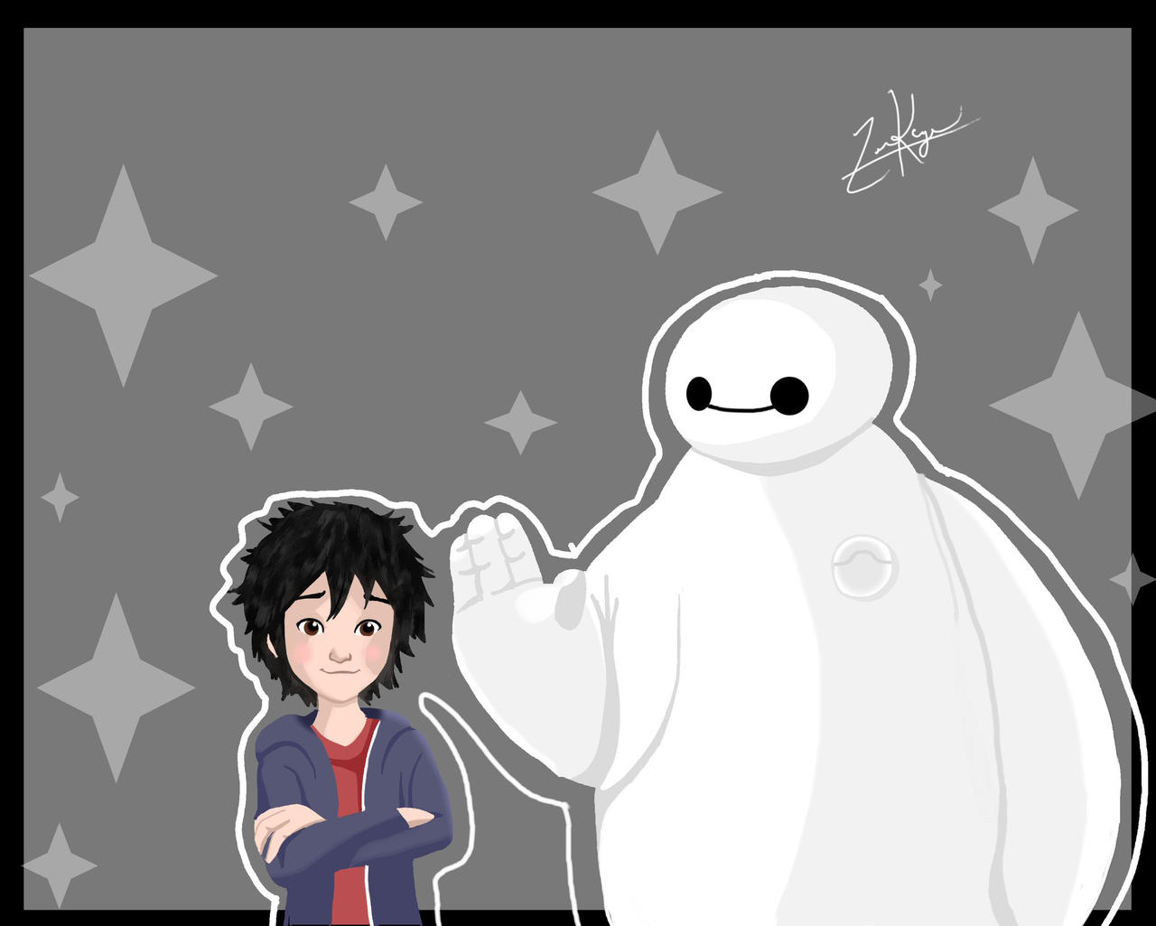 Big Hero 6 Baymax And Hiro By Zenkage151 On Deviantart