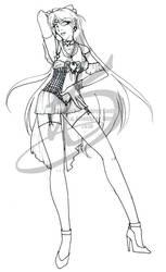 Lines: Dark Sailor Venus by Jateshi