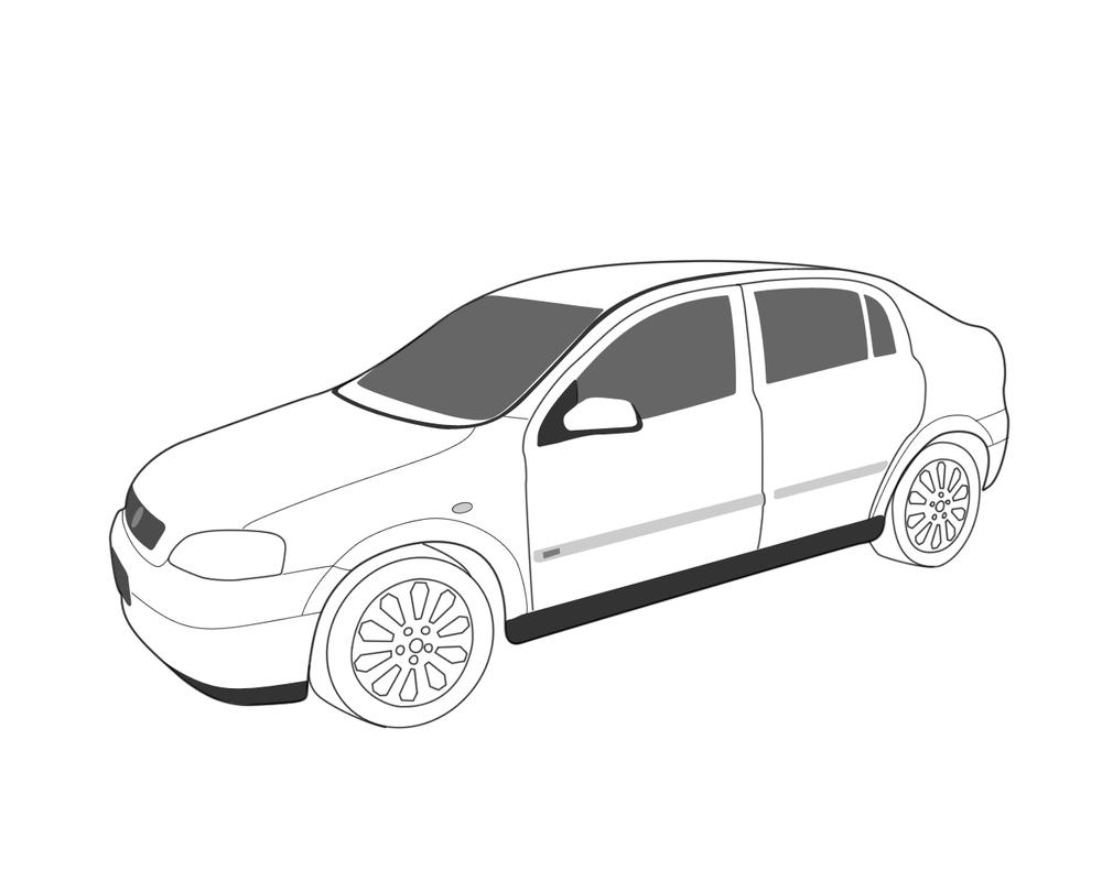 Holden Astra LineArt by