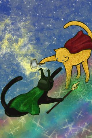 Lokitty vs Cat Thor by HikaruNo5
