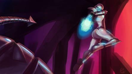 Ultima Suit Samus v Ridley by Kashi-NG