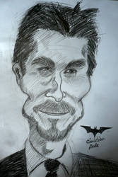 Christian Bale Caricature by fantoNN