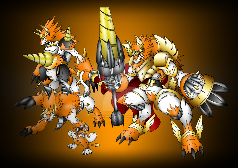 Dorirumon EVOLUTIONS by neoarchangemon on DeviantArt