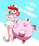 Nurse Joy and Chansey