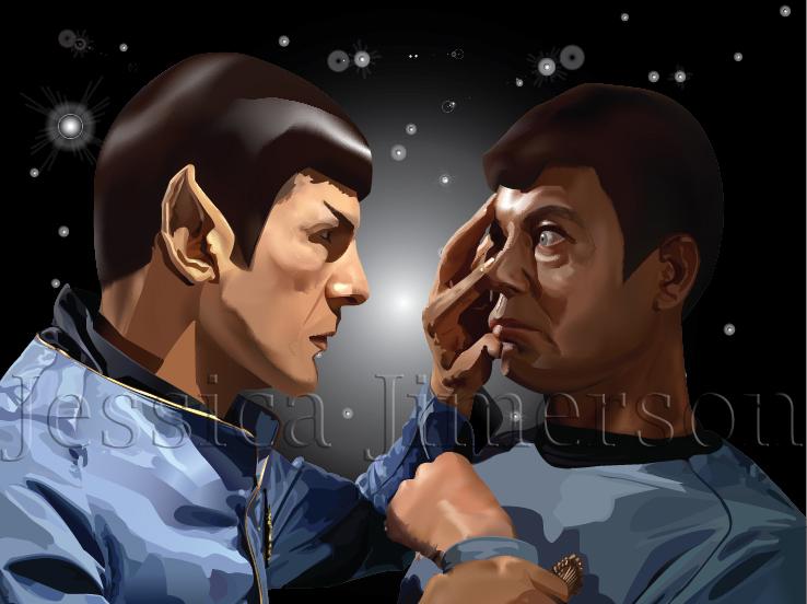 Spock and Bones by JessHavok