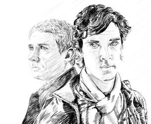 John and Sherlock by JessHavok
