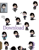 Sherlock Shimeji (desktop animation download) by JessHavok