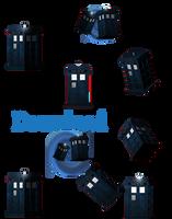 TARDIS (desktop animation download) by JessHavok