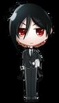 Sebastian Michaelis (chibi avatar) by JessHavok