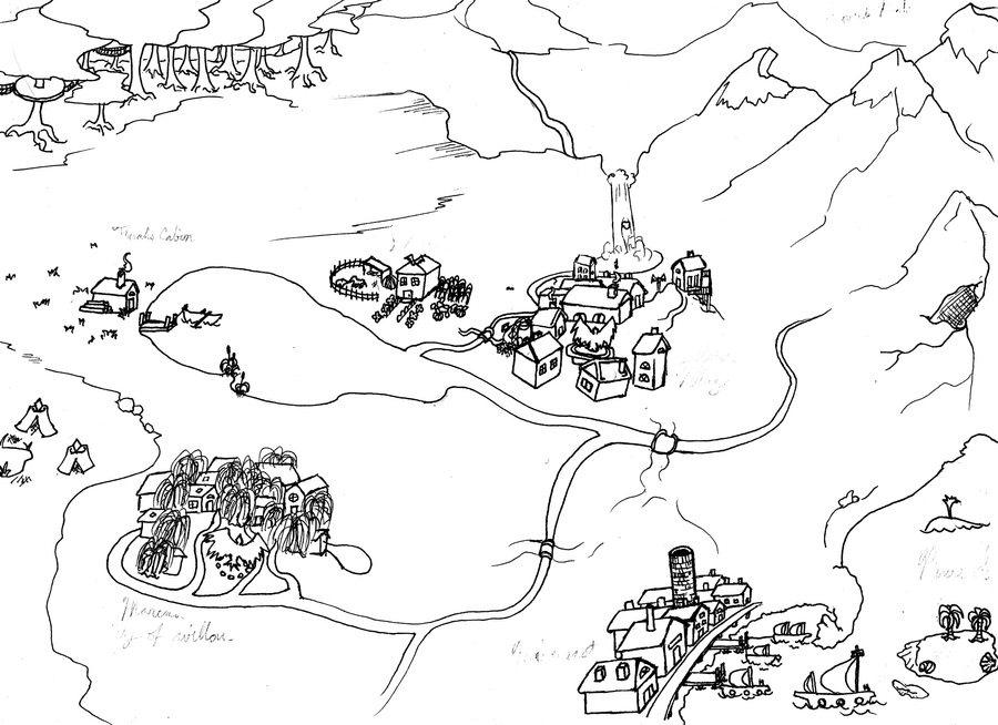 World Map - Sketch by KuraiUmmei