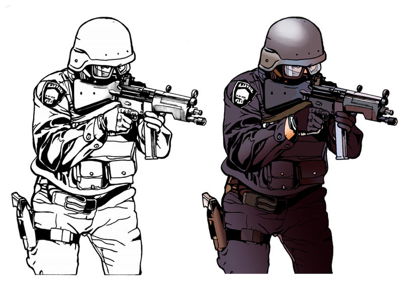 LAPD S W A T 54399383 on odst in cartoon