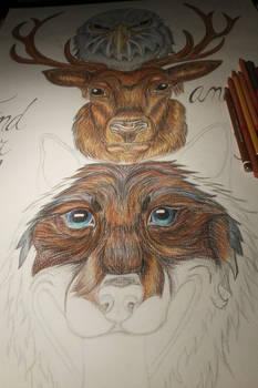 3 heads totem - work in progress