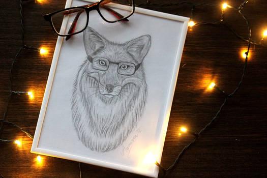 Foxy illustration - christmas gift