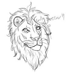 Quick lion sketch by Aynarra