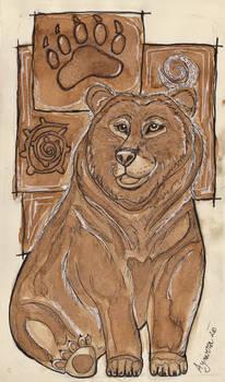 Coffee painting bear
