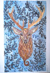 Mixed media deer