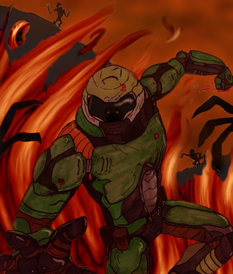 The Doom Slayer By Baka2niisan On Deviantart