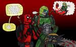 Deadpool and Doomguy