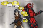 Deadpool and Mukuro Ikusaba