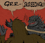 Round one of Godzilla Vs Kong in a nutshell