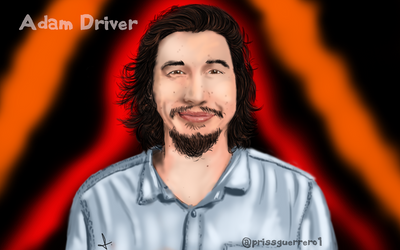 Adam Driver Painting