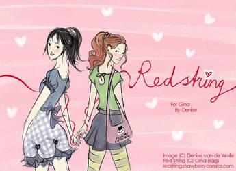 RedString fanart Hanae X Fuuko by RedKisses