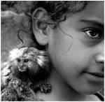 GIRL WITH A MONKEY
