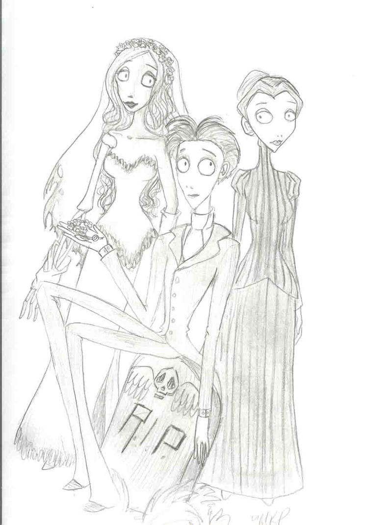 It is a photo of Fan corpse bride coloring pages