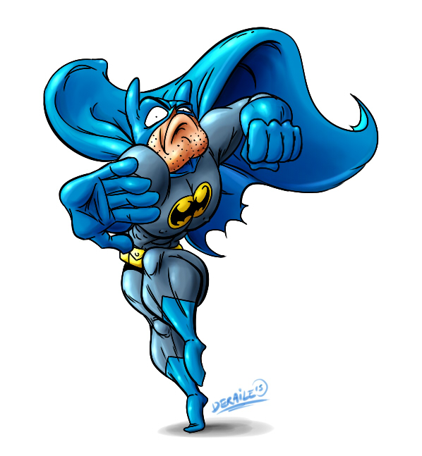 Cartoon Batman by deraile07