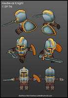 Low Poly Medieval Knight by treecastle